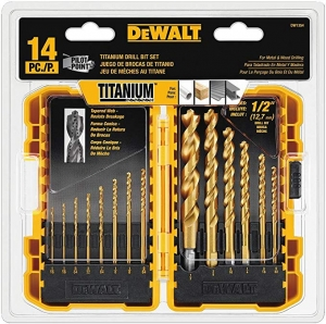 ihocon: DEWALT Drill Bit Set, Titanium, 14-Piece (DW1354) 鈦合金鑽頭