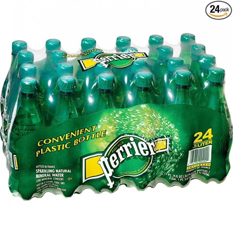 ihocon: Perrier Carbonated Mineral Water, 16.9 Fl Oz (24 Pack) 氣泡礦泉水
