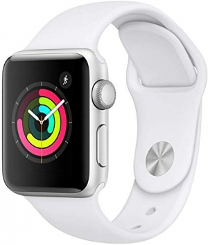 ihocon: AppleWatch Series3 (GPS, 38mm) - Silver Aluminium Case with White Sport Band