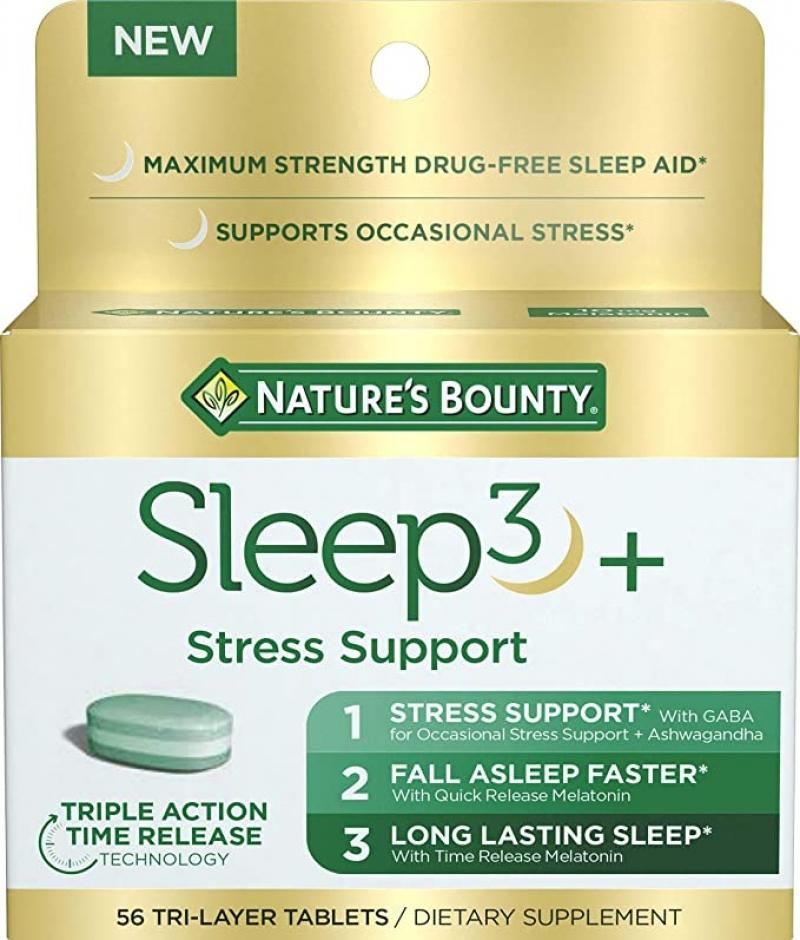 ihocon: Nature's Bounty Sleep3 Maximum Strength 100% Drug Free Sleep Aid 幫助睡眠/減輕壓力 56粒
