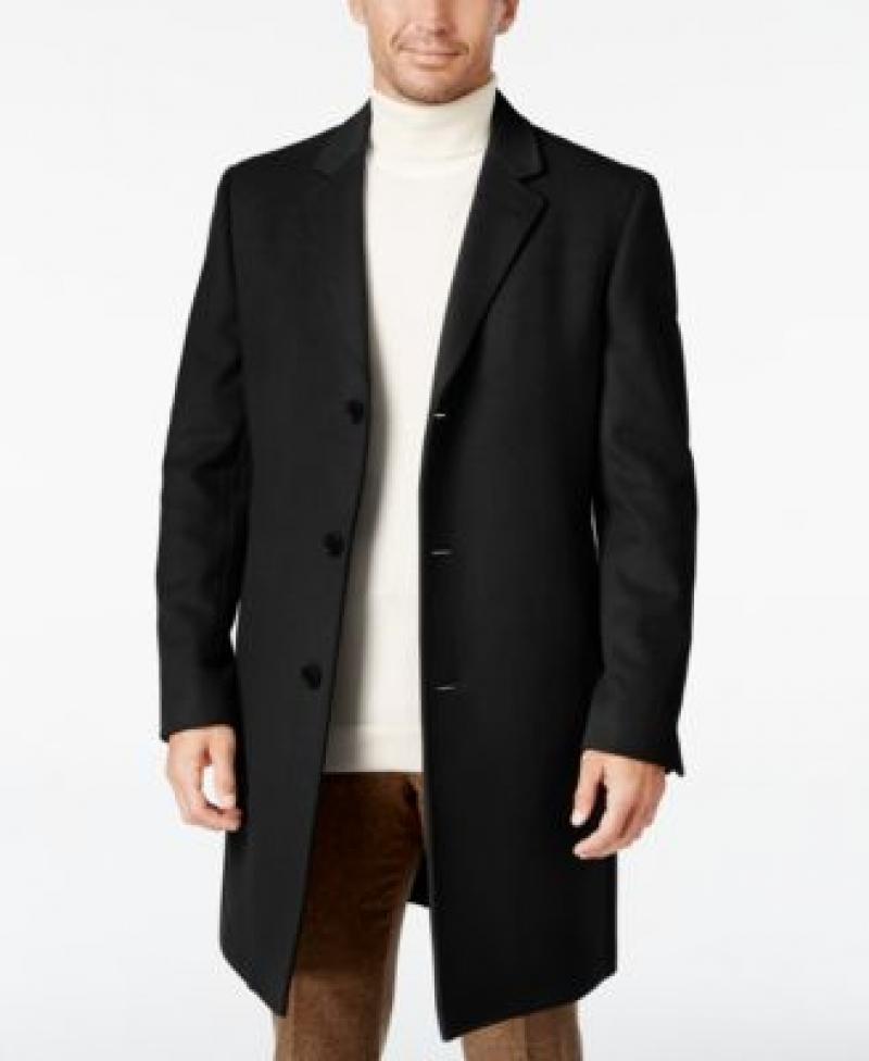 ihocon: Lauren Ralph Lauren Men's Luther Wool Blend  Top Coat 男士羊毛混紡長大衣