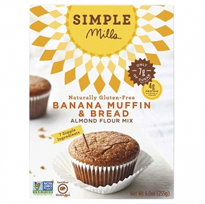 ihocon: Simple Mills Almond Flour Mix, Banana Muffin & Bread, 9 oz (PACKAGING MAY VARY)  杏仁香蕉鬆餅預拌粉
