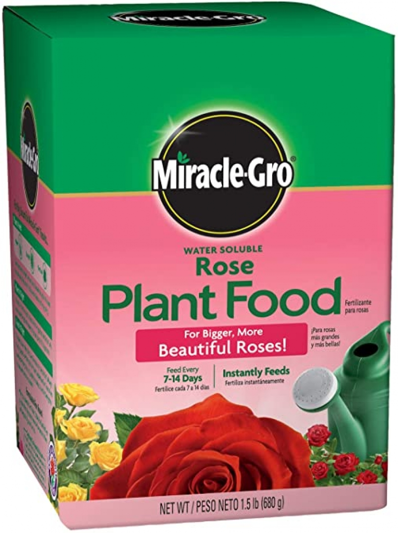 ihocon: Miracle-Gro Water Soluble Plant Food, 1.5-Pounds 水溶性玫瑰花肥