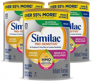 ihocon: Similac Pro-Sensitive Non-GMO Infant Formula with Iron, 34.9 oz, 3 Count 嬰兒奶粉