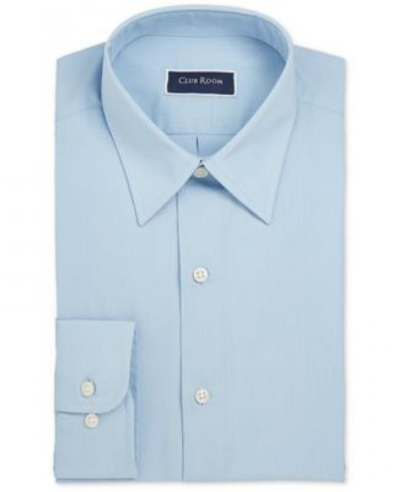 ihocon: Club Room Men's Classic/Regular-Fit Solid Dress Shirt 男士襯衫-多色可選