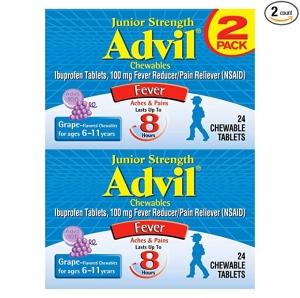 Advil Junior Strength Chewables 兒童(2-11歲)止痛/退燒嚼片 2盒共48粒 $5.98(原價$10.28)
