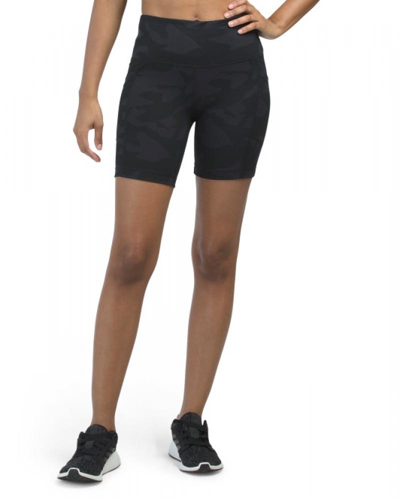 ihocon: YOGALICIOUS LUX Lux Camo Hi Rise Side Pocket Shorts  女士高腰迷彩含口袋短褲