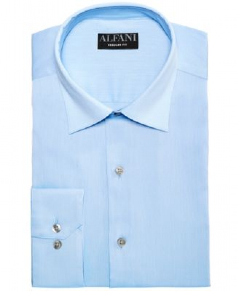 ihocon: AlfaTech by Alfani Men's Bedford Cord Classic/Regular Fit Dress Shirt男士襯衫