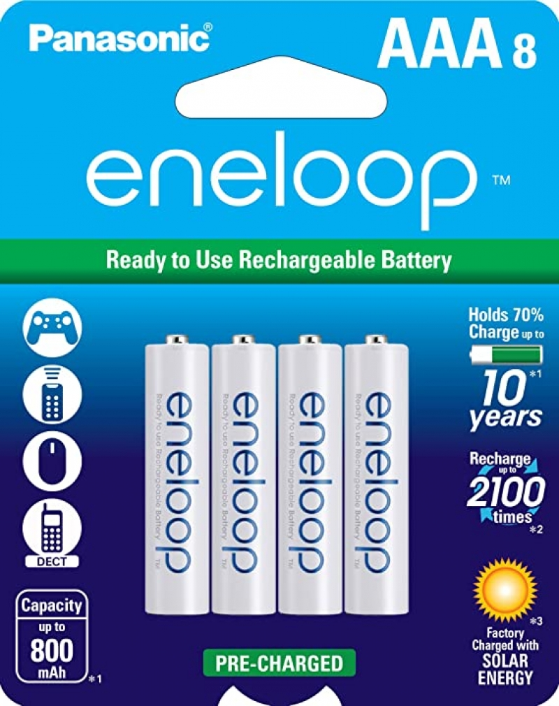 ihocon: Panasonic eneloop AAA 2100 Cycle Ni-MH Pre-Charged Rechargeable Batteries, 8 Pack 充電電池