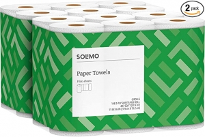ihocon: [Amazon自家品牌] Solimo Basic Flex-Sheets Paper Towels, 12 Value Rolls