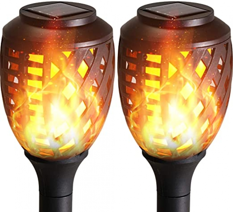 ihocon: Grand Patio Waterproof Flickering Flames Dusk to Dawn Solar Torch Lights,Pack of 2 太陽能火炬燈 2盞