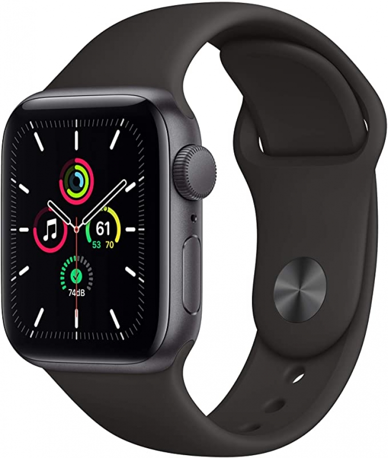 ihocon: New Apple Watch SE (GPS, 40mm) - Space Gray Aluminum Case with Black Sport Band