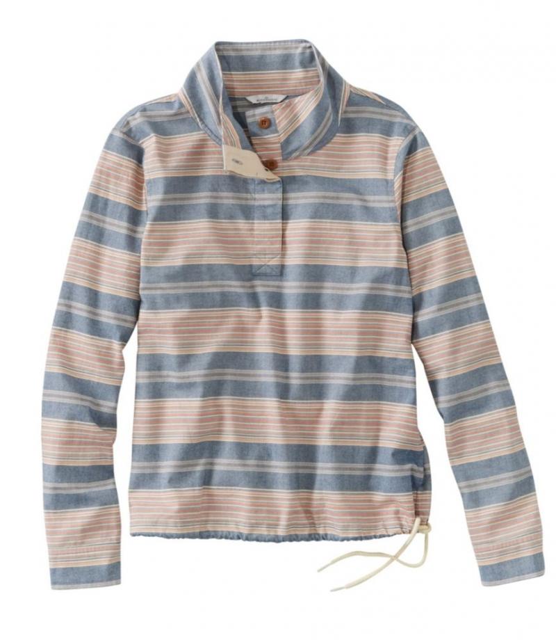 ihocon: L.L. Bean Women's Signature Brushed Cotton Mockneck Shirt 女士純棉長袖衫-多色可選