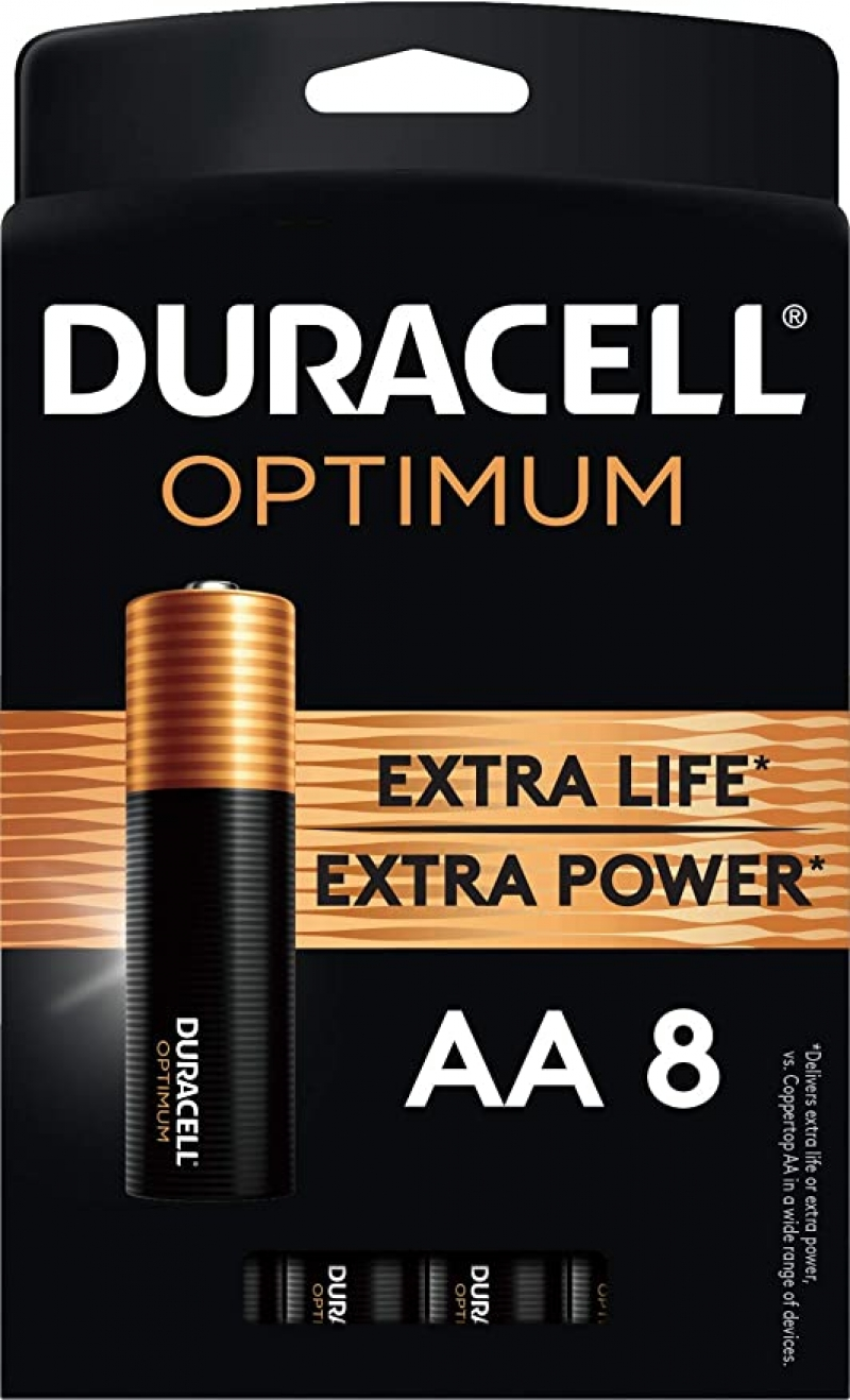 ihocon: Duracell Optimum AA Batteries |8 Count Pack 電池