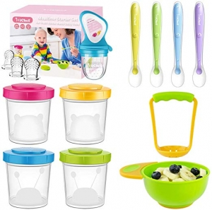 ihocon: MICHEF Baby Food Storage Containers Set 嬰兒餵食用品一組