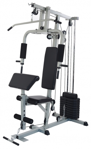 ihocon: BalanceFrom Home Gym System Workout Station with 330LB of Resistance, 125LB Weight Stack 家庭健身器材