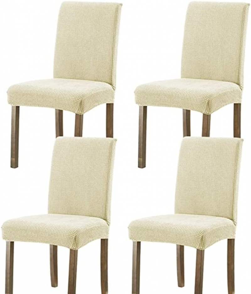 ihocon: FENGWINDS Dining Chair Covers Set of 4 彈性餐椅椅套