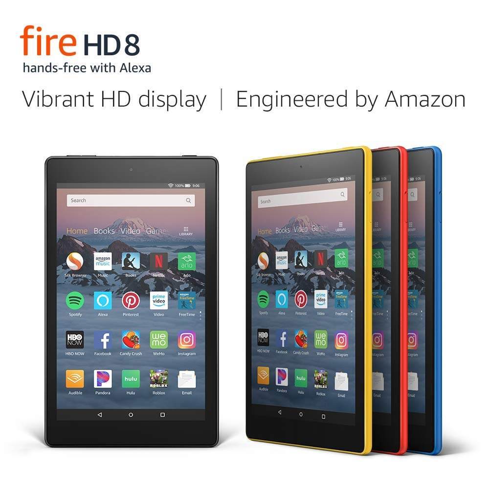 ihocon: Fire HD 8 Tablet (8 HD Display, 16 GB, with Special Offers) - Black