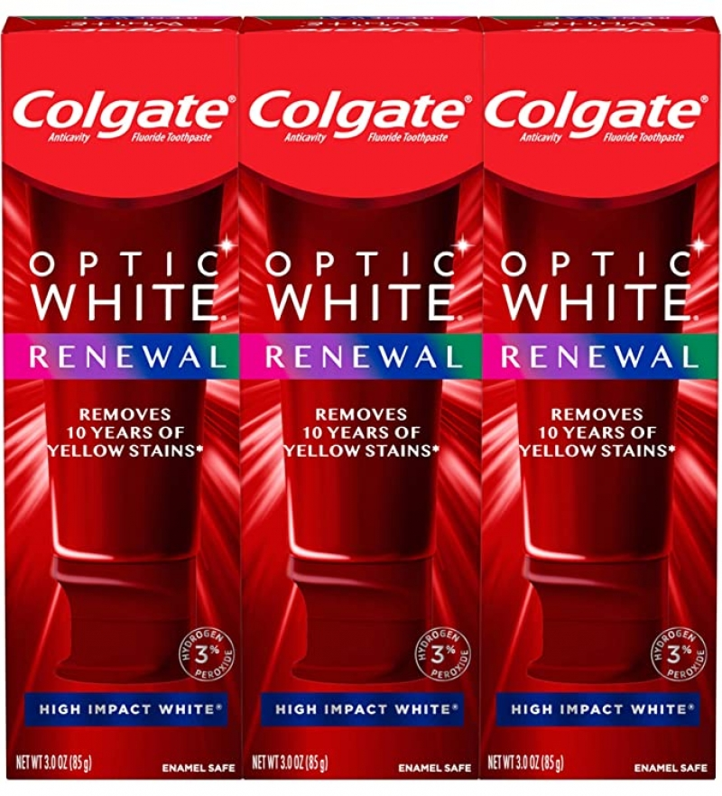 Colgate Optic White 高露潔美白牙膏 3oz 3個 $13.52(原價$19.49)