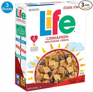 ihocon: Quaker Life Cinnamon Cereal, 13 oz Boxes, 3 Count
