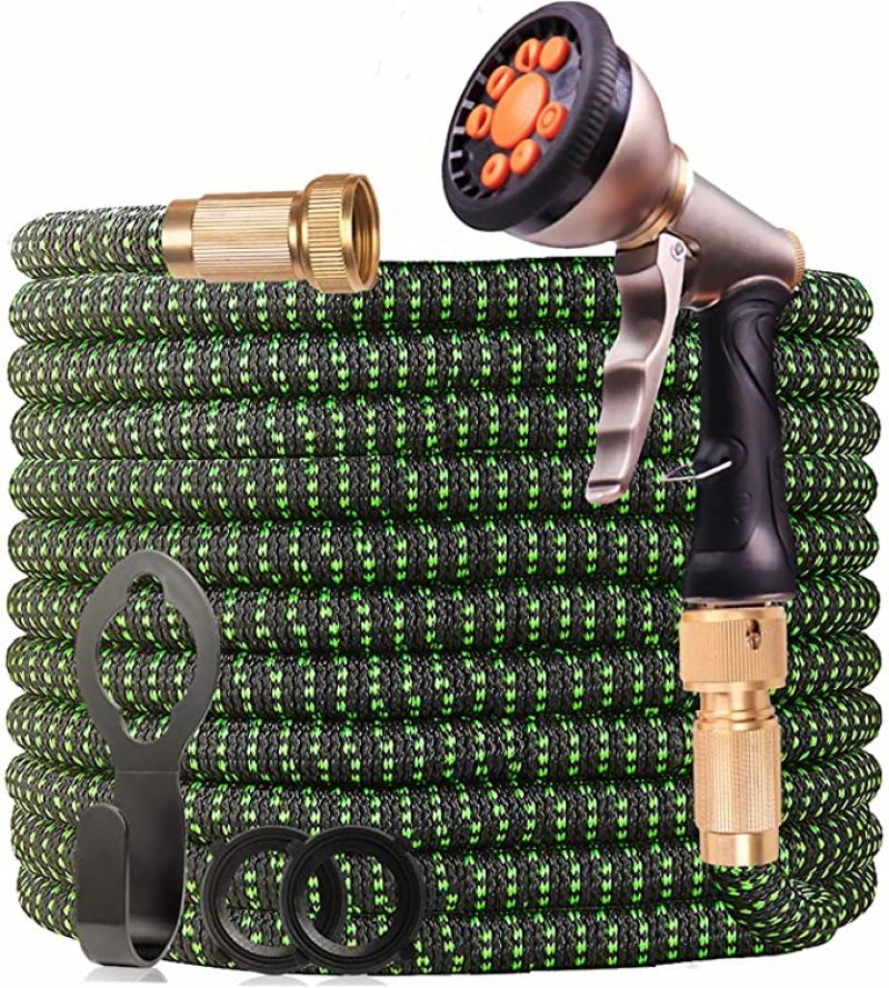 ihocon: WGCC Expandable Garden Hose, 50ft 伸縮澆花水管, 含噴水頭