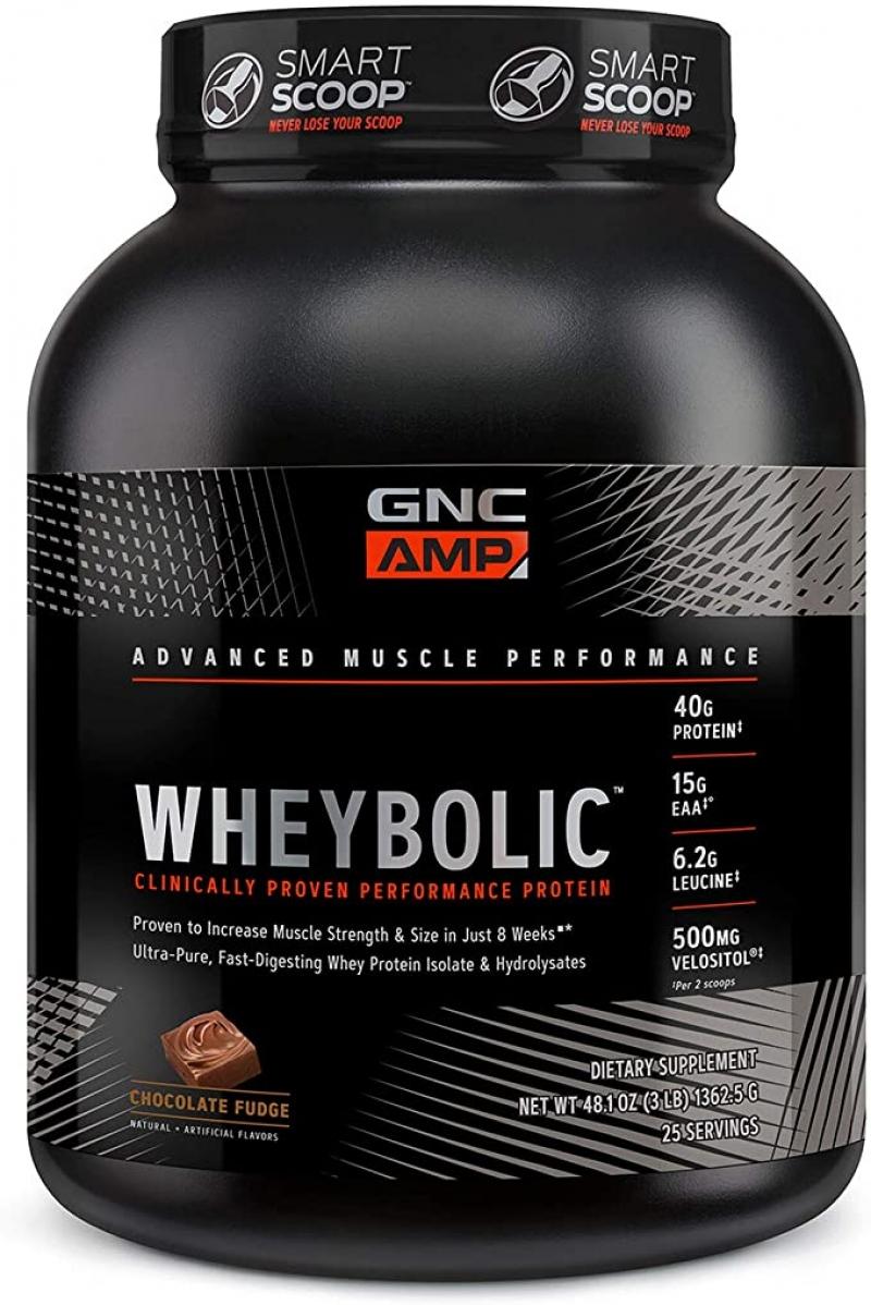ihocon: GNC AMP Wheybolic - Chocolate Fudge 增肌蛋白粉 3磅