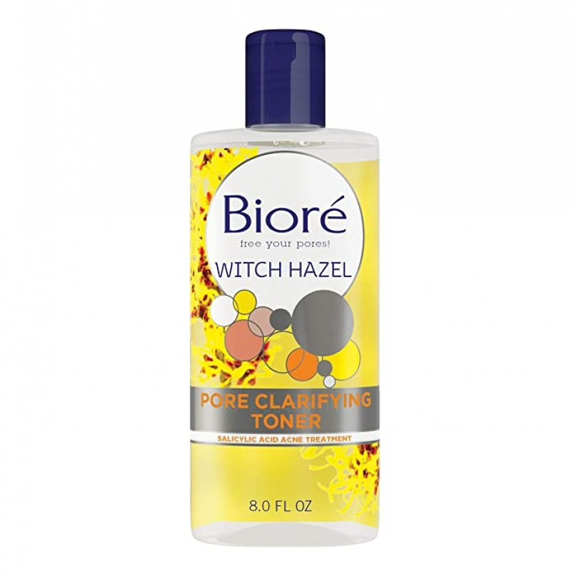ihocon: Bioré Pore Clarifying Toner with 2 Percent Salicylic Acid for Acne and Balanced Skin Purification, Witch Hazel, 8 Fl Oz 祛痘毛孔清潔化妝水