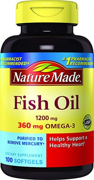 ihocon: Nature Made Fish Oil 1200 mg w. Omega-3 360 mg Softgels 100 Ct  魚油