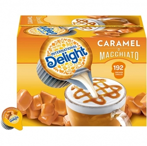 ihocon: International Delight Single-Serve Coffee Creamers (Caramel Macchiato), 192 Count 焦糖瑪奇朵咖啡奶精