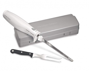 ihocon: Hamilton Beach Electric Knife for Carving Meats, Poultry, Bread, Crafting Foam & More, Storage Case & Serving Fork Included 電動刀