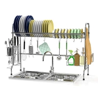 ihocon: Ace Stainless Steel Teah Over The Sink Dish Drying Rack 水槽碗盤瀝乾架