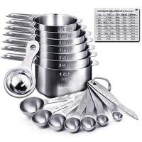 ihocon: Bermunavy Measuring Cups and Spoons Set 不銹鋼量杯, 量匙, 分蛋器及磁性測量轉換對照表