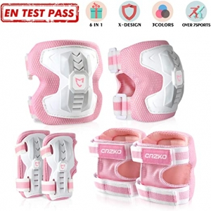 ihocon: CrzKo Kids/Youth Protective Gear 兒童護膝, 護腕, 護肘, 尺寸: M