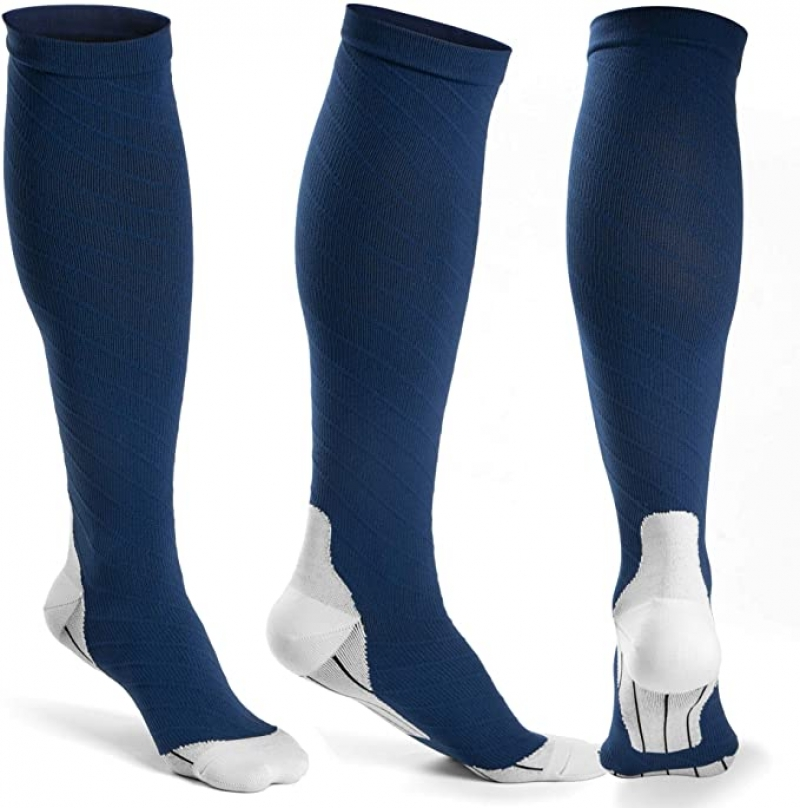 ihocon: [男,女均適用] Fiream 20-30 mmHg Compression Socks Women and Men, 3 Pairs 彈性壓力襪(Size: L-XL)