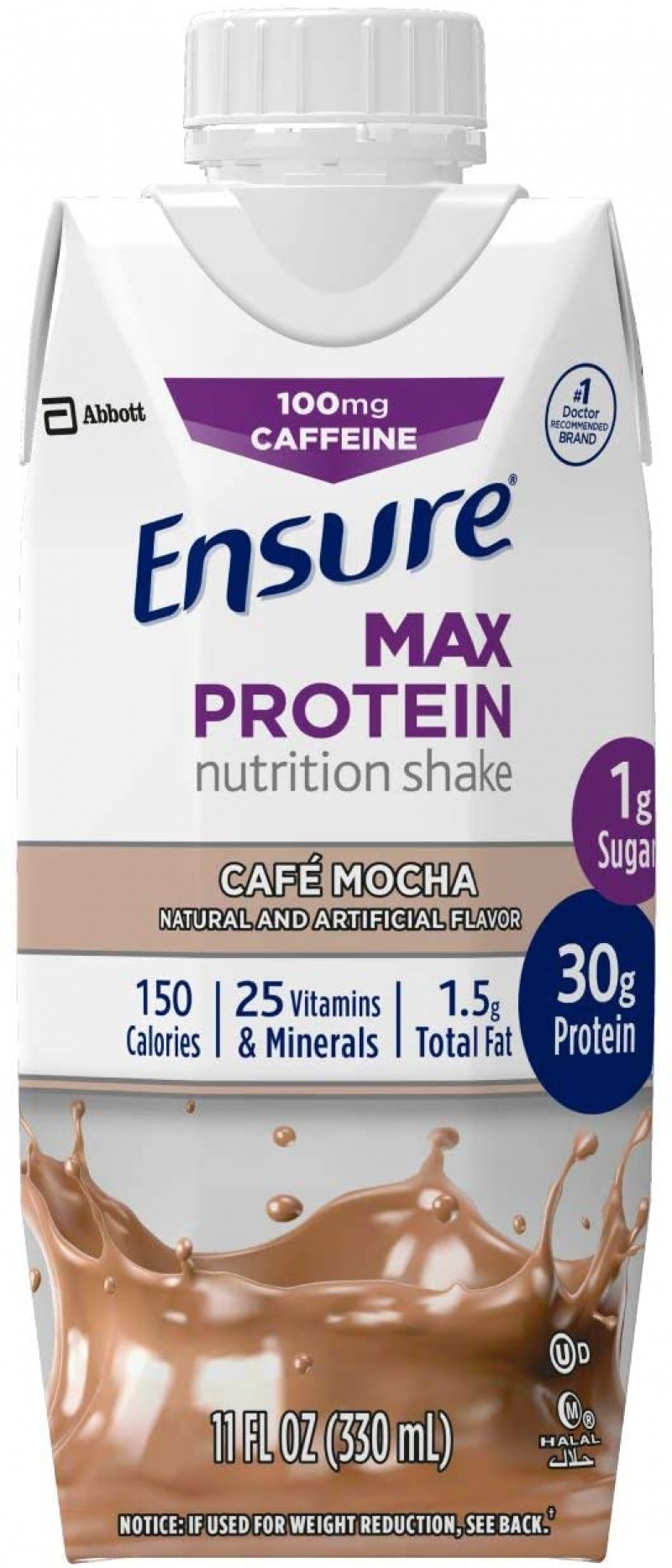 ihocon: Ensure Max Protein Nutritional Shake with 30g of protein, Cafe Mocha, 11 fl oz, 12 Count 高蛋白奶昔,咖啡摩卡口味