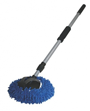 ihocon: AutoSpa 93303 9 2-in-1 Long Chenille Microfiber Wash Mop with 48 Extension Pole 2合1拖把