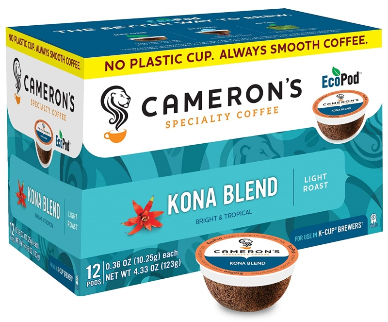 ihocon: Cameron's Coffee Single Serve Pods, Kona Blend, 12 Count (Pack of 6) 咖啡膠囊