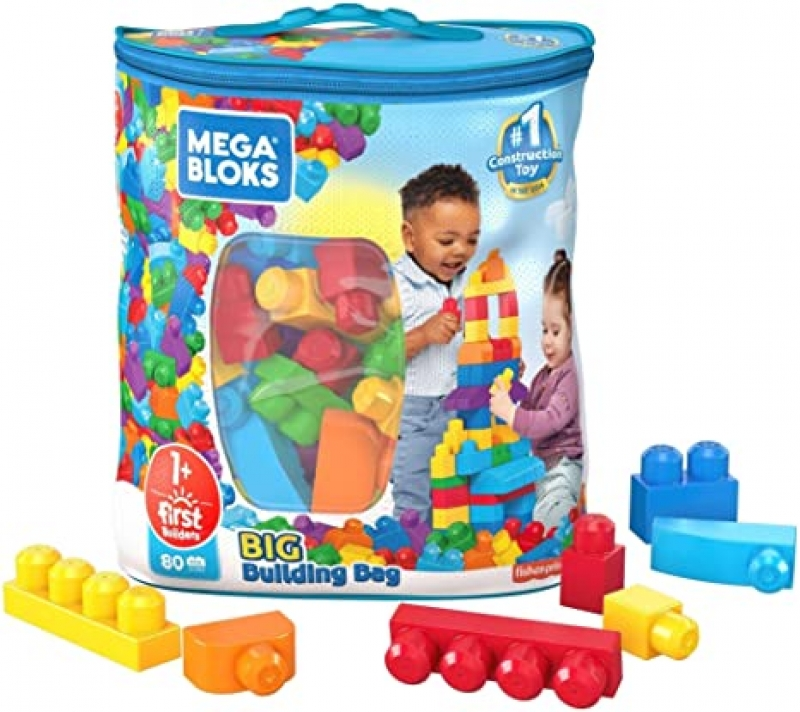 ihocon: Mega Bloks First Builders Big Building Bag(80 Pieces)-幼兒大型積木