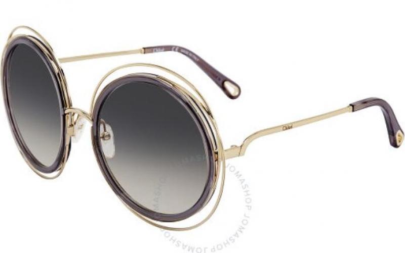 ihocon: Chloe Transparent Grey Round Ladies Sunglasses CE120SD 731 58 女士太陽眼鏡