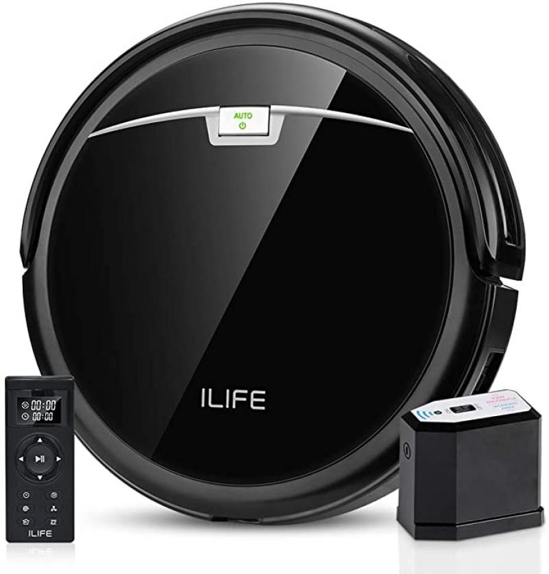 ihocon: ILIFE A4s Pro Robot Vacuum, 2000Pa Max Suction, ElectroWall, Remote Control, Slim, Thin, Quiet, Self-Charging 自充電吸地機器人