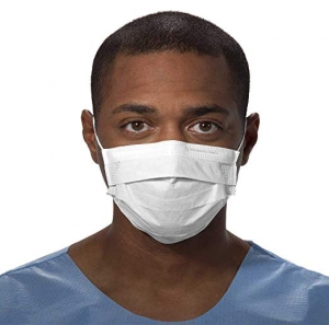 ihocon: Kimberly-Clark Procedure Mask (47090), Pleated, Ear Loops, White, 50 Masks醫用口罩