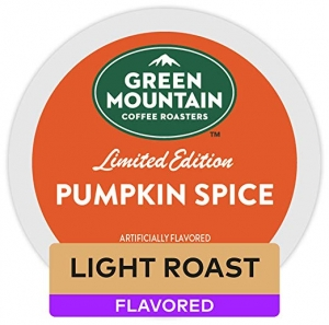 ihocon: Green Mountain Coffee Roasters Pumpkin Spice Keurig Single-Serve K-Cup Pods, Light Roast Coffee, 72 Count 南瓜口味咖啡膠囊