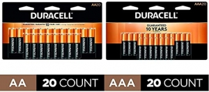 ihocon: Duracell -CopperTop AA Alkaline Batteries - long lasting - 20 Count with CopperTop AAA Alkaline Batteries - long lasting,- 20 count