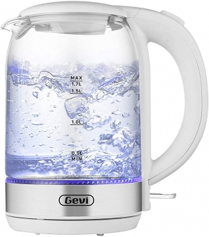 ihocon: Gevi 1.7L Glass Electric Kettle-1500W Cordless Tea Kettle 玻璃電熱水瓶