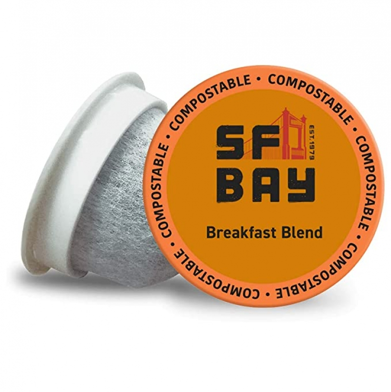 ihocon: SF Bay Coffee OneCUP Breakfast Blend 80 Ct Medium Roast, K Cup Compatible咖啡膠囊
