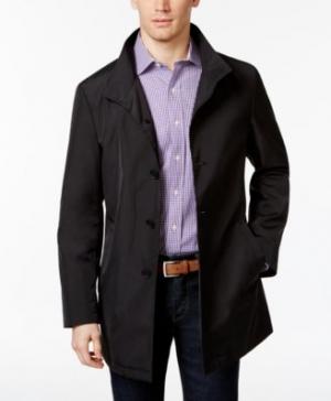 ihocon: Calvin Klein Men's Slim Fit Black Solid Raincoat 男士防水外套/雨衣