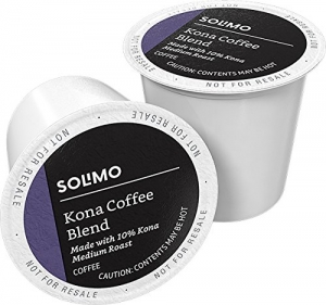 ihocon: Amazon Brand - 100 Ct. Solimo Medium Roast Coffee K-Cup Pods, Kona Blend, Compatible with 2.0 K-Cup Brewers 咖啡膠囊