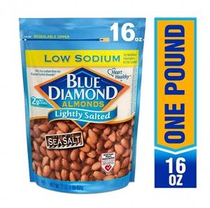 ihocon: Blue Diamond Almonds, Low Sodium Lightly Salted, 16 Ounce 淺鹽杏仁