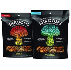ihocon: Shrooms Vegan Mushroom Crisps | Superfood Snack | Non-GMO, Dairy, Gluten, Soy, and Trans Fat Free | Original & Pizza, Variety Pack 蘑菇脆片