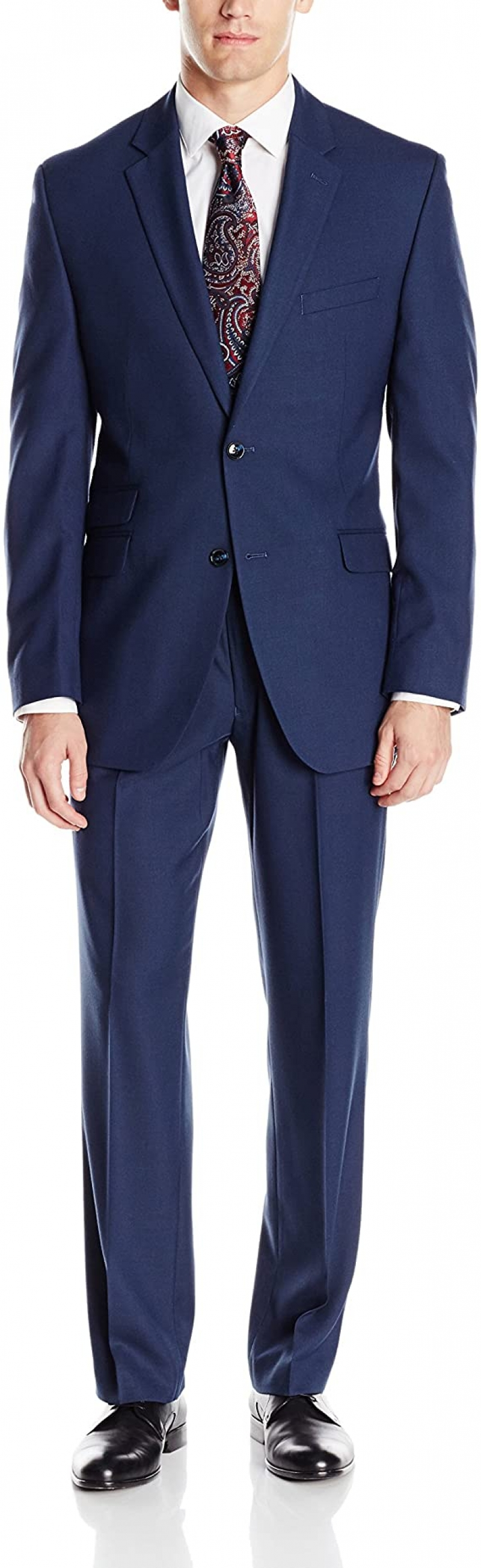 ihocon: Perry Ellis Men's Slim Fit Suit with Hemmed Pant 男士西服一套